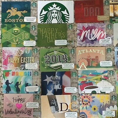 Starbucks Gift Card Collection Assorted Cards - All New & Unused w/No Cash Value