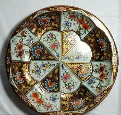 DAHER DECORATED WARE ENGLAND TIN TRAY Beautiful Flower Pattern-1971