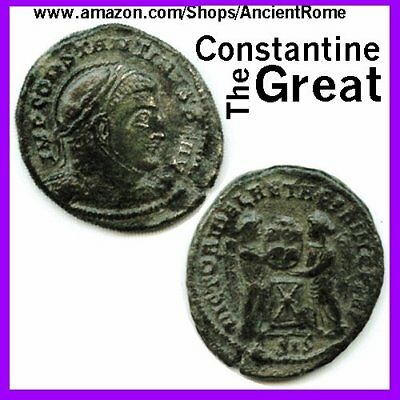 Constantine the Great Imperial Roman Empire Bronze Coin Certificate Authenticity