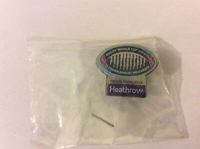 Rugby World Cup 2015 London Heathrow Pin Badge Brand New