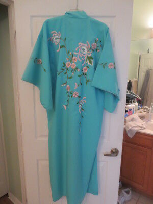 "Embroidered Kimono / Japanese Robe, 56"" Length, 24.5"" Width - Beautiful!"
