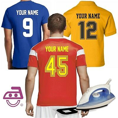 Iron On Numbers Letters Sports Football Soccer Jersey Uniforms T-Shirts PU Vinyl