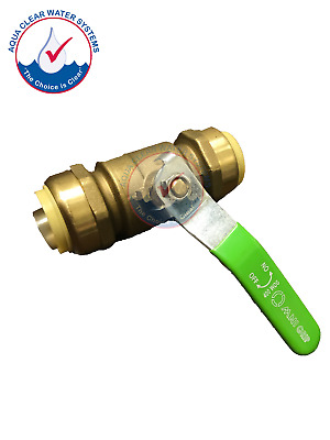"1"", Push-FIt Ball Valve, Shark Bite Style, Push to Connect, Push to lock Fitting"