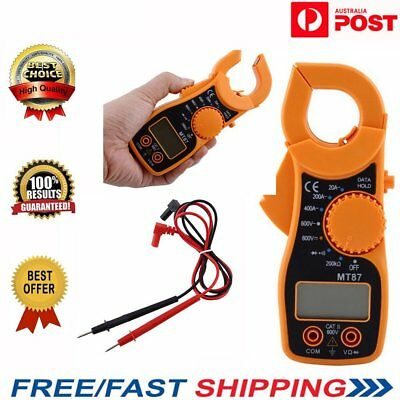 AU Portable Digital Multimeter LCD Meter Clamp AC DC Volt Current AMP OHM Tester