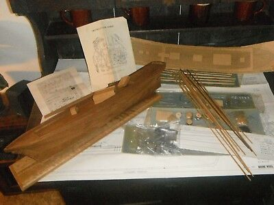 Marine Models Co.Vintage THE SEA WITCH Clipper Ship Wood & cast metal Kit RARE !