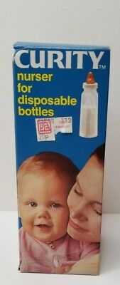 Vintage CURITY NURSER for DISPOSABLE Bottles Pat. 1965  NOS Hard to find