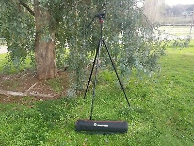 Manfrotto 755XB + MVH500AH Lightweight Fluid Video Tripod System with Bag