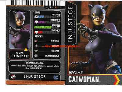 Injustice Arcade Dave and Busters Bronze Card 1 Catwoman NONFOIL