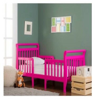 Dream On Me Emma Fuchsia Pink 3-in-1 Convertible Toddler Bed