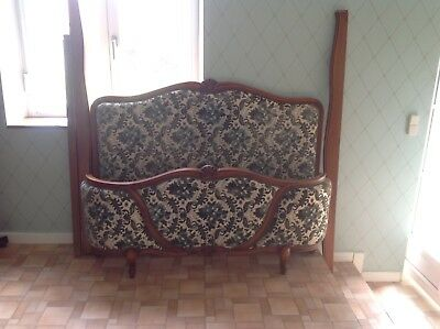 French vintage Louis XV style Corbielle double bed