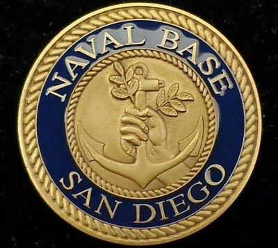 Navy Base Naval Station San Diego Challenge Coin USN MADE IN USA Version 2