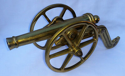 VTG Large Solid Brass Virginia Metal Crafters Cannon Toy Signal Model Military