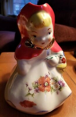 HULL POTTERY VINTAGE LITTLE RED RIDING HOOD MILK or CREAM PITCHER
