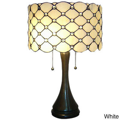 Glass Table Lamp Light Stained Glass Handcrafted Elegant Tiffany Style Modern