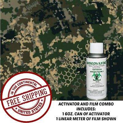 Hydrographic Film Water Transfer Hydro Dip 6Oz Activator With Digi Hex Army Kit