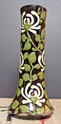 German Studio Keramik Jugendstil Art Nouveau Pottery Floral Vase EARLY