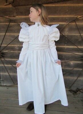 Modest Quality Historical Characters Dress Costume~White Helen Keller~Child Size