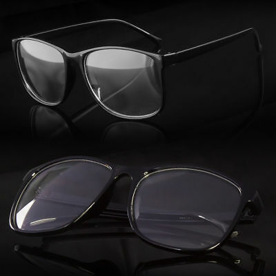 New Mens Womens Large Clear Lens Frame Glasses Designer Fashion Optical RX Nerd