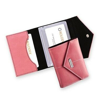 Rolodex Pink Ribbon Business Card Case, 36-Card (1734451) 36-Cards