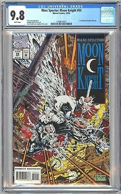 MARC SPECTOR MOON KNIGHT #55 - CGC 9.8 - White Pages NM/MT 1st STEPHEN PLATT ART