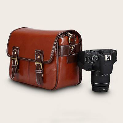 PU Leather SLR DSLR Waterproof Camera Bag Case  For Canon For Nikon