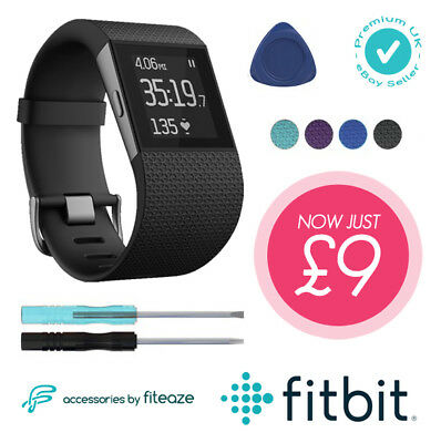 Fitbit Surge Replacement Strap Watch Silicone Band + Complete Full Tool Kit *UK*