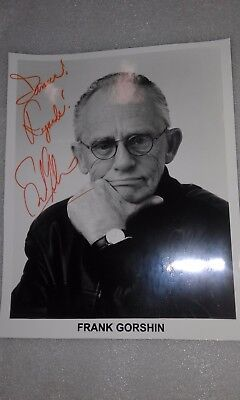 Frank Gorshin Batman The Riddler Actor Hand Signed Autograph Photo To James