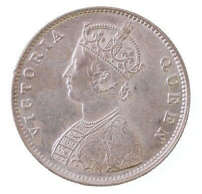 1862 British India Half 1/2 Rupee Victoria Silver Coin