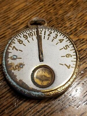 Robbins Co Antique Vintage Pocket Sundial Watch Compass Egyptian Revival 1920's