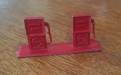 Tootsietoy Shell Cast Iron Gas Pumps Vintage