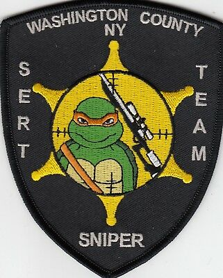 Washington County Sheriff Sert Team Sniper Police Patch Ny New York