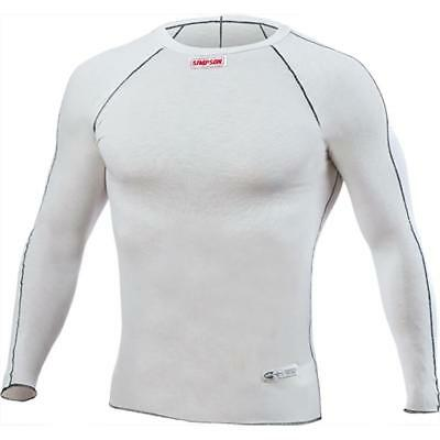 Simpson 20123SW Memory Fit Fire Resistant Top, White, Small