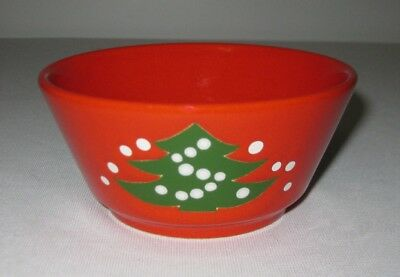 "Vintage Waechtersbach Pottery Red Christmas Tree 5"" Coupe Soup Bowl"