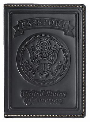 Villini 100% Leather US Passport Holder Cover Case For Men Women In 8 Colors