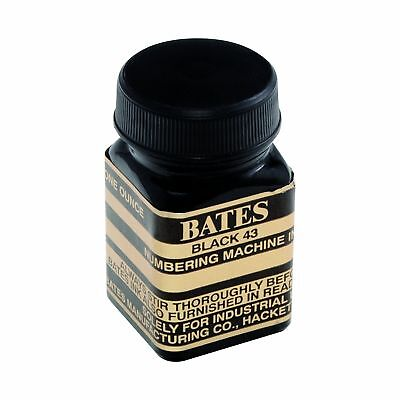 Bates Numbering Machine Refill Ink, 1 Ounce Bottle with Cap Brush, Black (980...