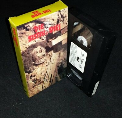 Vhs Die Sister, Die! Jack Ging Edith Atwater Kent Smith  Like New 1988
