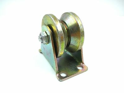 """Wang-Data 2"""" Dia Yellow 45# Steel V Groove Rigid Caster Wheel for Industrial ..."""