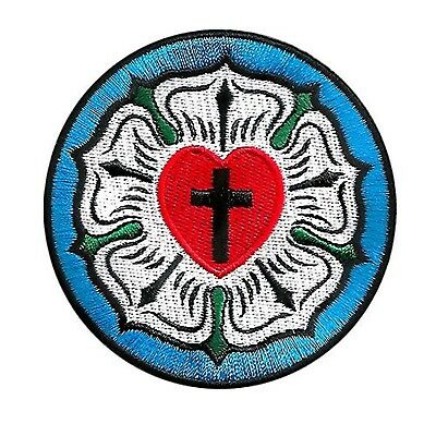 Vegasbee Luther Rose Seal Lutheran Church Symbol Christian Cross Embroidered ...