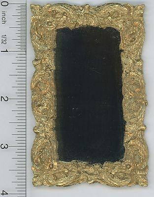 Dollhouse Miniature Ornate Gold Framed Mirror (UMOM10)