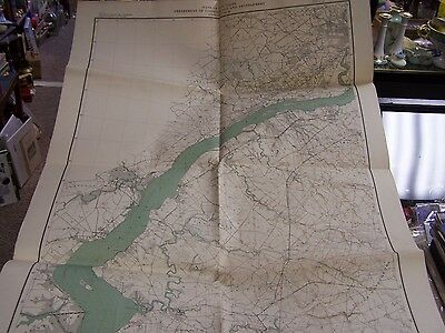 1934 Map Of New Jersey - Sheet 30 Geology And Topography - Excellent 27 By 37 In