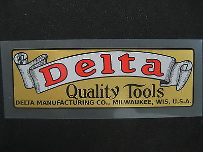 Vintage DELTA QUALITY TOOLS  decal -  PERFECT FOR THAT RECONDITIONED MACHINE