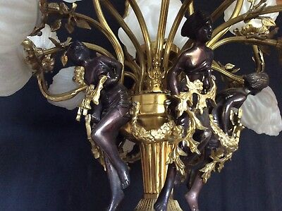 """Large Vintage Amazing French Chandelier 32"""" X 36""""  Shades Not Included"""