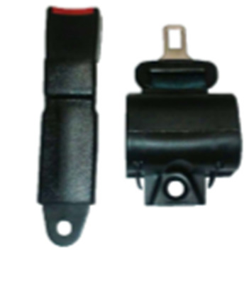 "FORKLIFT RETRACTABLE SEAT BELT BLACK 55"" inches LONG  ROD - 11"" NEW FREE SHIPPIN"