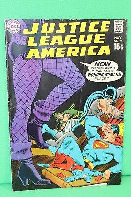 Justice League of America #75 DC Comic Comics Black Canary G+/VG
