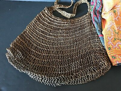 Vintage Papua New Guinea Billum Bag …beautiful collection & utilitarian item