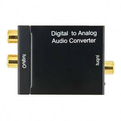Optical Digital Coax Coaxial Toslink to Analog Audio Converter Cable Adapter RCA