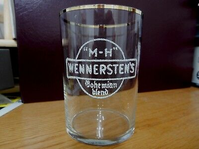 PRE PRO beer brewery GLASS Wennersten's Bohemian Blend, Chicago Illinois IL