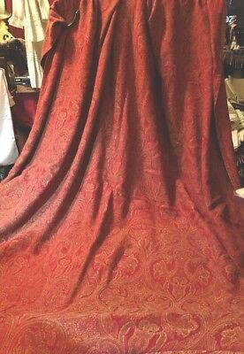 """Ant JACQUARD WOVEN PAISLEY TAPESTRY  THOW~TABLE COVER~55.5"""" W x 74"""" L ~ A WOW!!"""