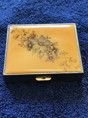 Small Travel JEWELRY BOX CASE CHEST Earring Necklace Autumn Shades Hinged
