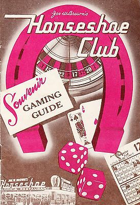 "Vintage Gaming Guide ""Horseshoe Club"" Las Vegas Nevada"